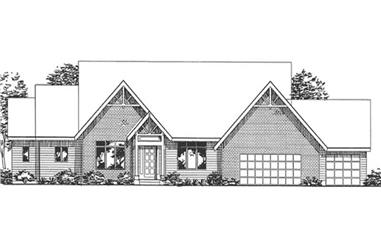 1-Bedroom, 2573 Sq Ft Farmhouse Home Plan - 146-2377 - Main Exterior