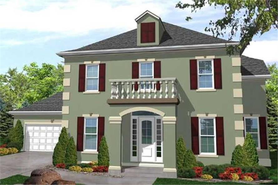 Main image for house plan # 20599
