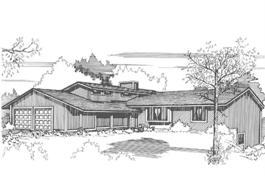 Front View to this houseplan