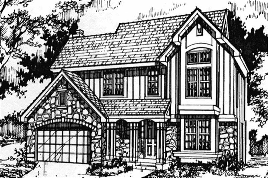 Country Houseplans LS-B-90025 Front Elevation.