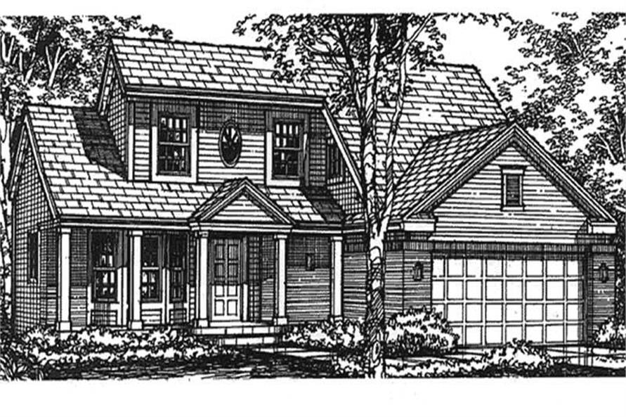 This is the front elevation of these country house plans LS-B-93016.