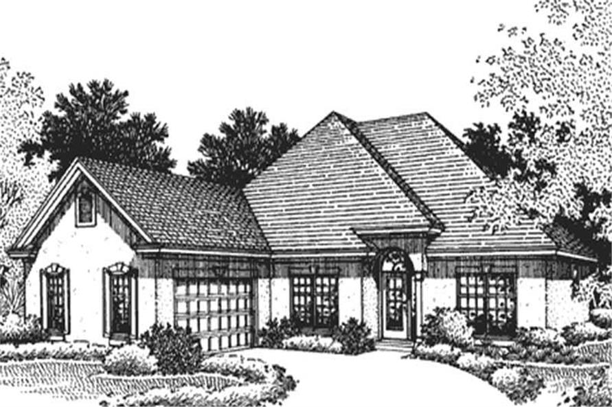This is the front elevation of European Homeplans LS-B-95011.