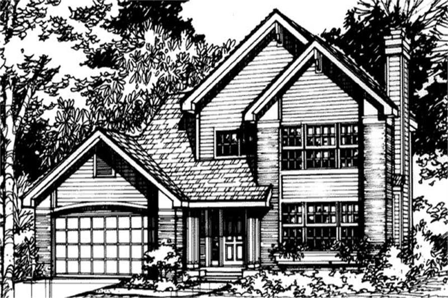 Front elevation of Country Houseplans LS-B-90023.