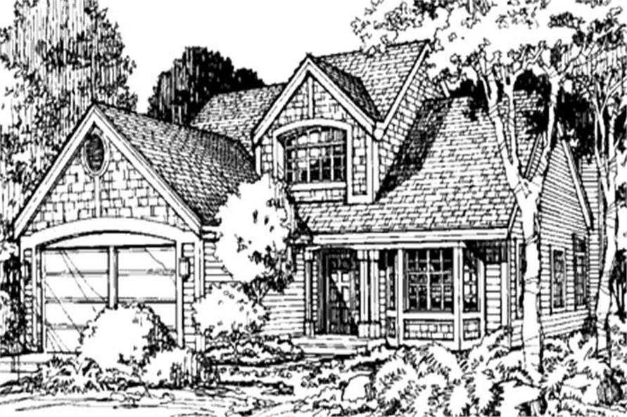Front elevation of Country Home Plans LS-B-92001.