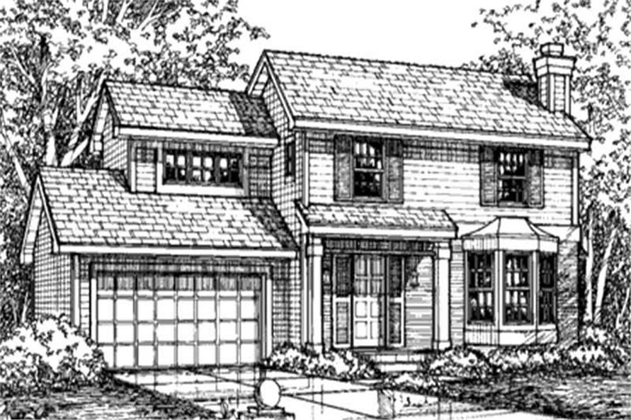This is the front elevation of these country homeplans LS-B-93013.