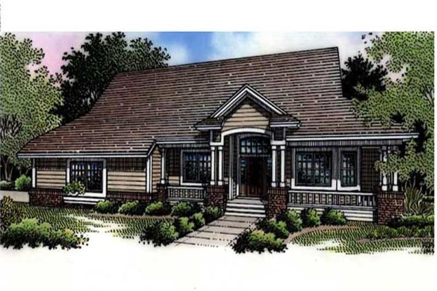 This is the colored rendering for country homeplans LS-B-94003.