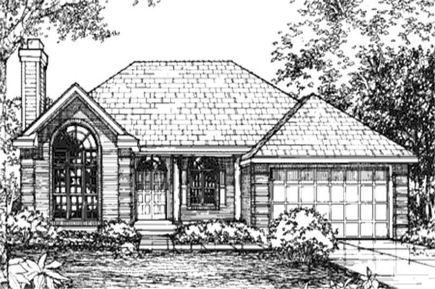 Front Elevation for Ranch home Plans LS-B-93009.