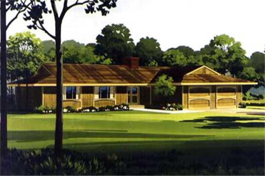 Color Rendering for house plan LS-H-1303-4A