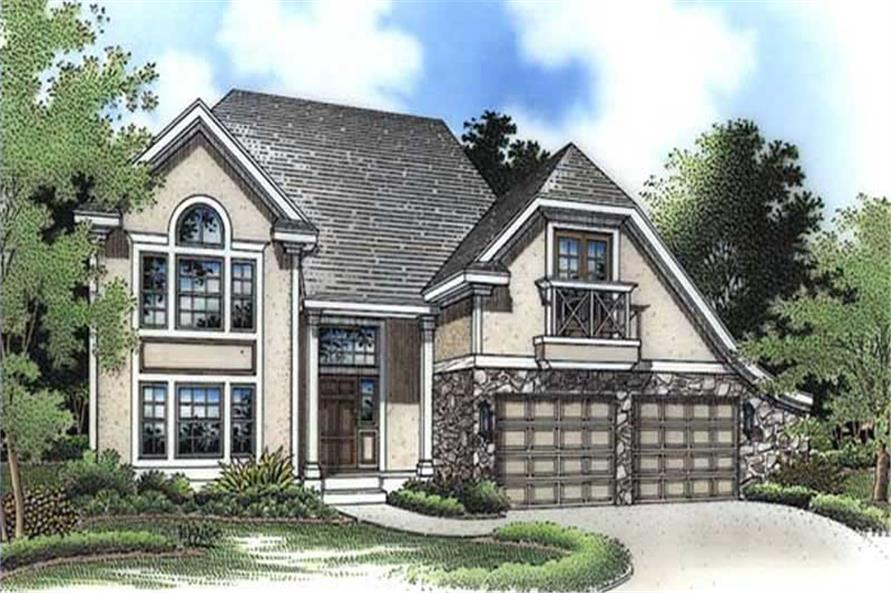 This is the colored rendering of these European House Plans LS-B-94020.