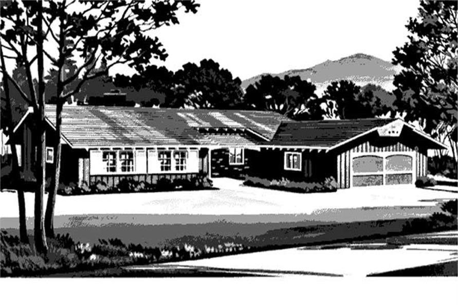 Front View to House Plan LS-H-1376-2