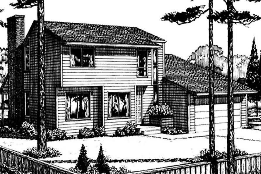 Front View for this set of house plans