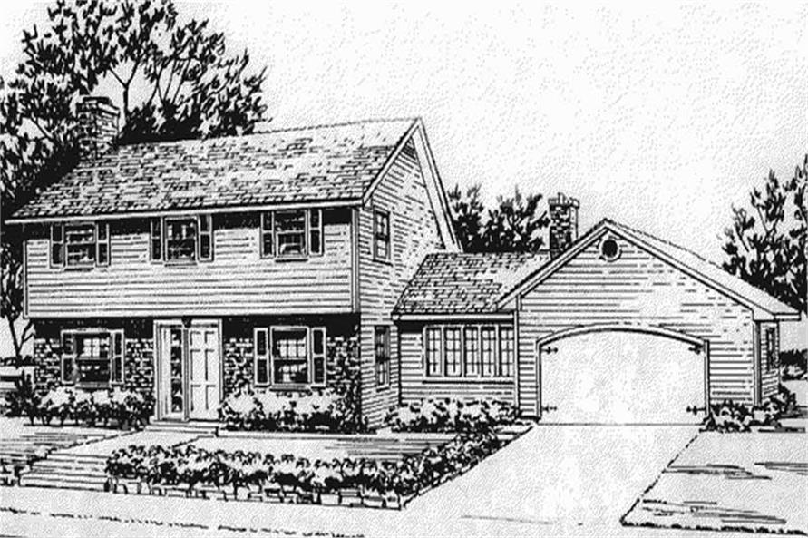 Front View to these house plans