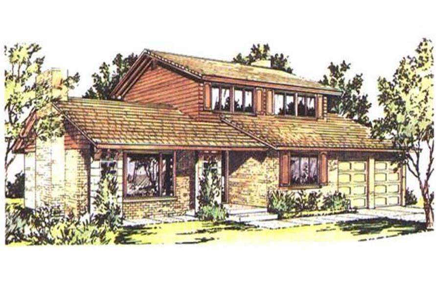 Front View to this house design