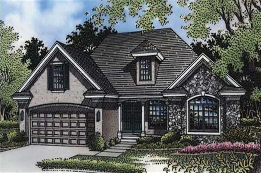 This is the front elevation of these Country Houseplans LS-B-94012.