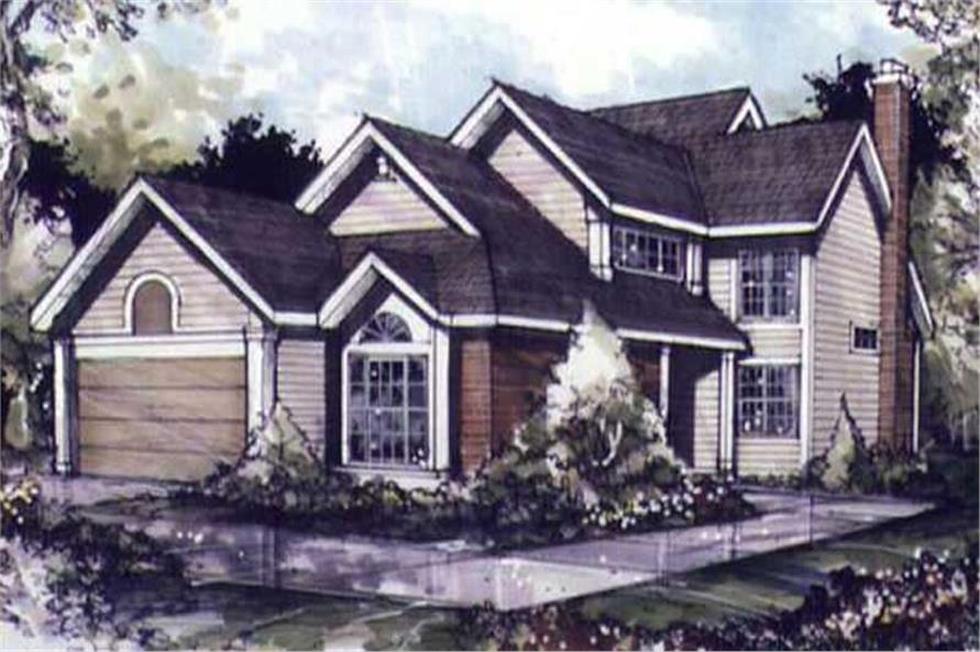 Country Houseplans LS-B-89079 colored front elevation image.