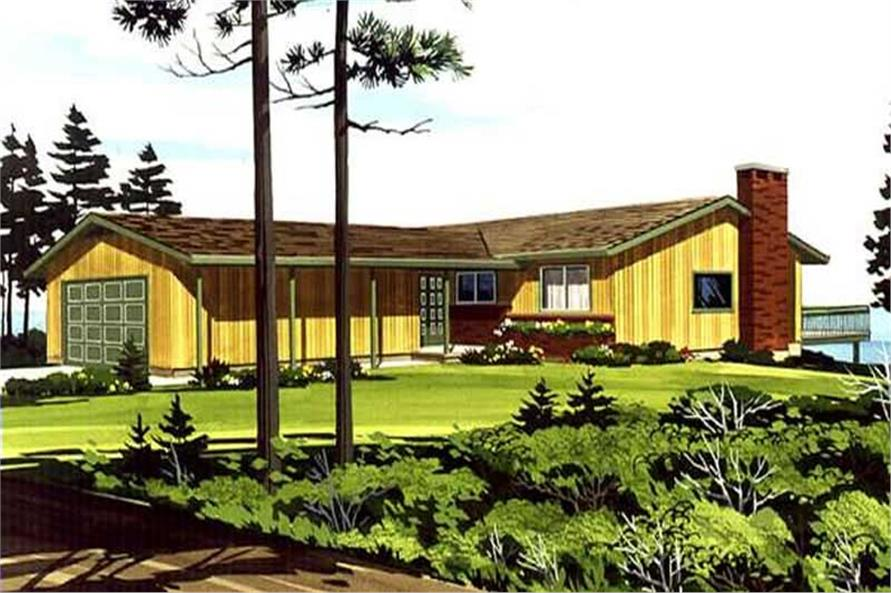 This is a colored rendering of House Plans LS-H-866-2B.
