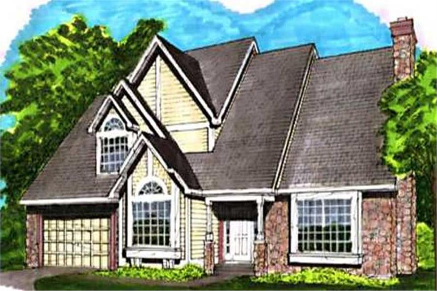 This image shows the Traditional/European Style of this set of house plans.