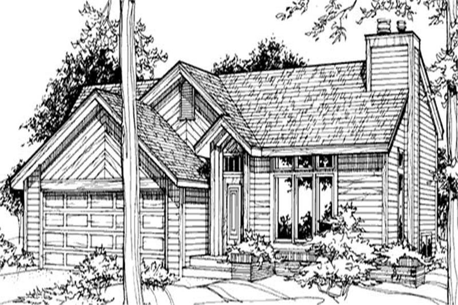 Main image for house plan # 21457