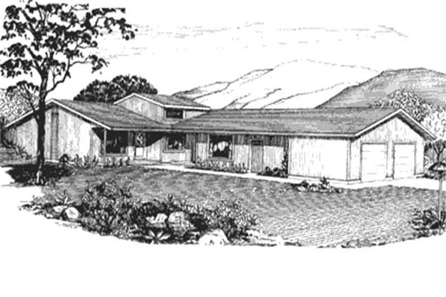 This is the front elevation of this multi-unit design