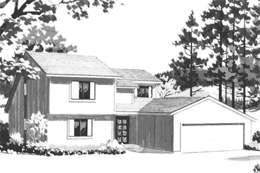 Front Elevation to these house plans