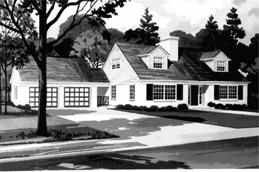 Front Elevation of these home plans