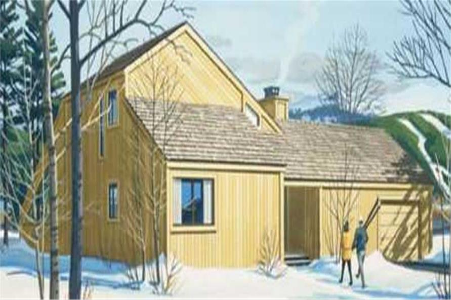Color Rendering of house plan LS-H-912-1A
