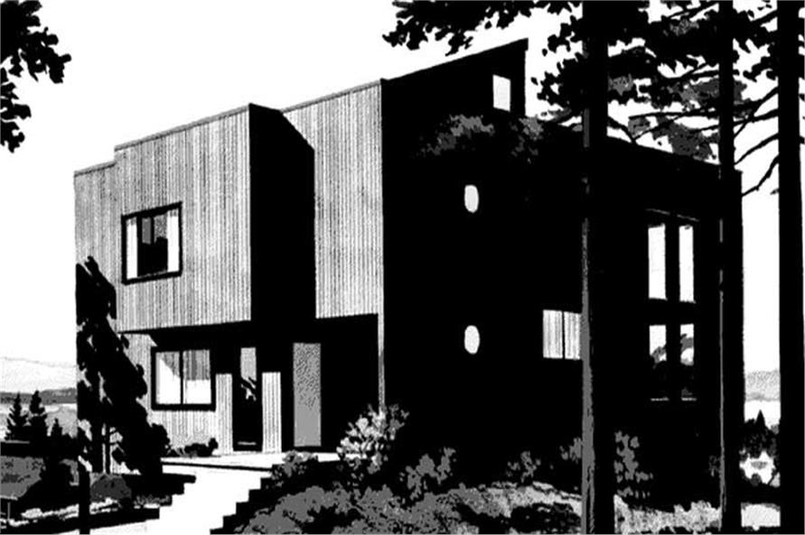 Front Elevation to these home plans