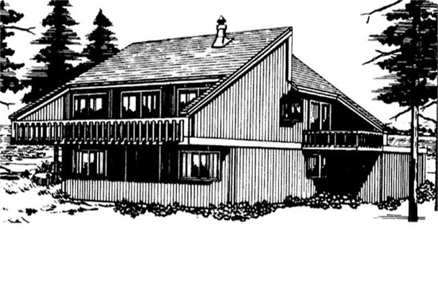 Front Elevation for house plan LS-H-933-1A