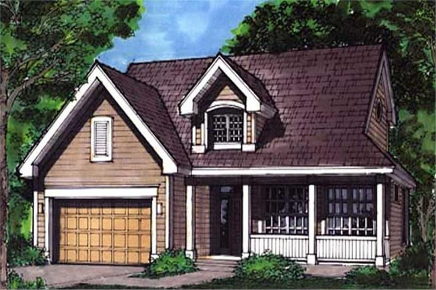 Front Elevation for Country Home Plans LS-B-92013.