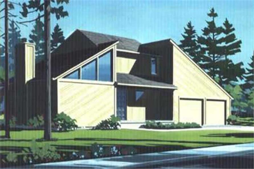 Color Rendering to house plan LS-H-931-1