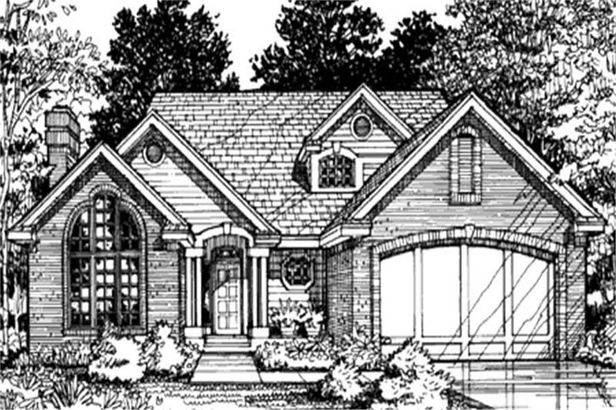 This is the front elevation of these country house plans LS-B-93031.