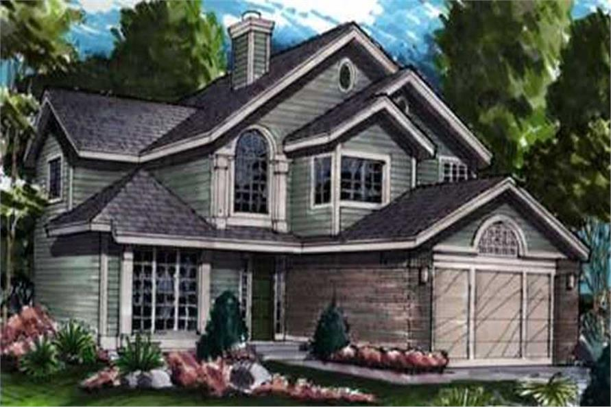 Country Homeplans LS-B-90007 colored rendering.