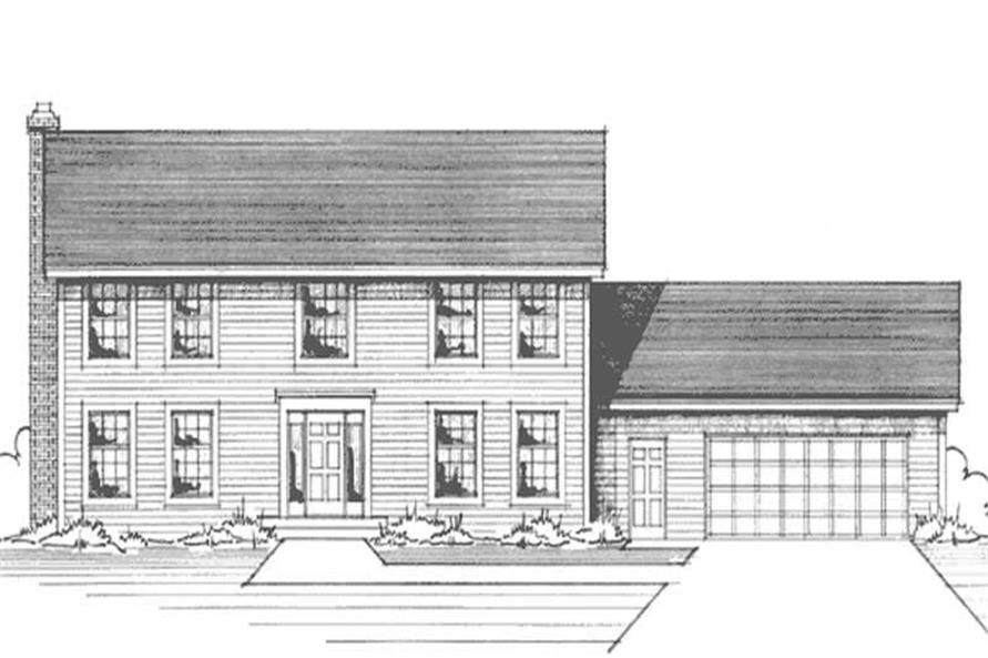 Main image for house plan # 20998