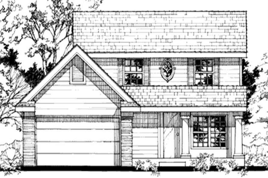 Country Houseplans LS-B-90061 Front Elevation Image.