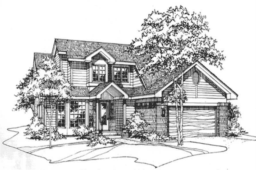 Front Elevation for Country Houseplans LS-B-90015.