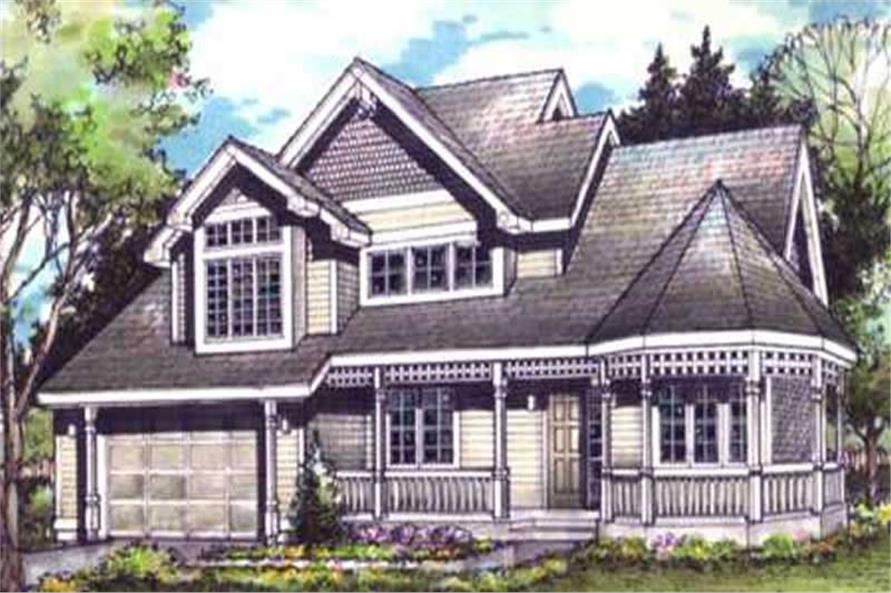 Front colored elevation for Country Home Plans LS-B-90032.