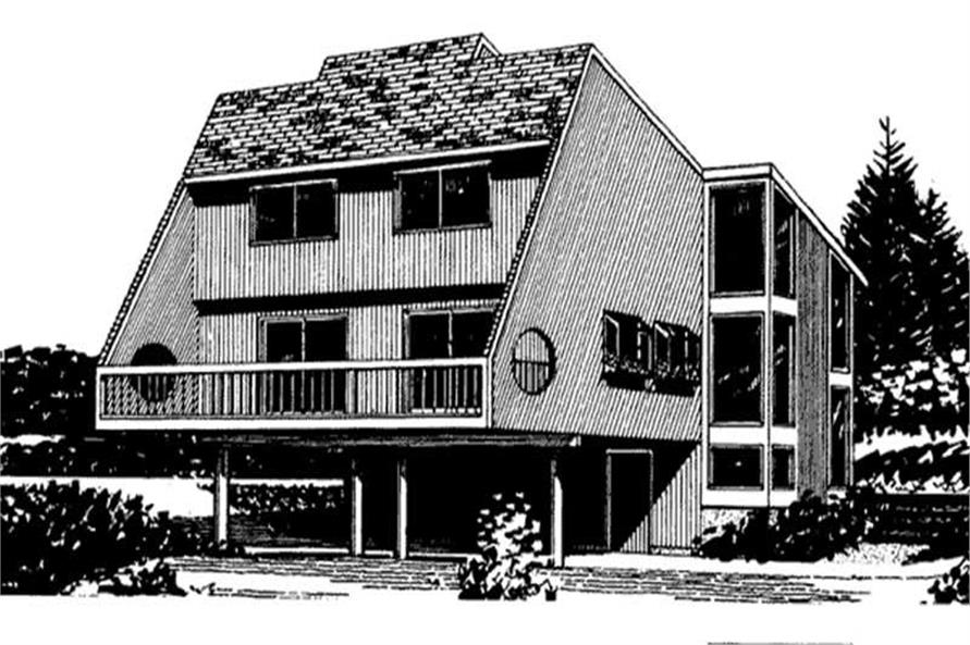 Front View to these home plans.