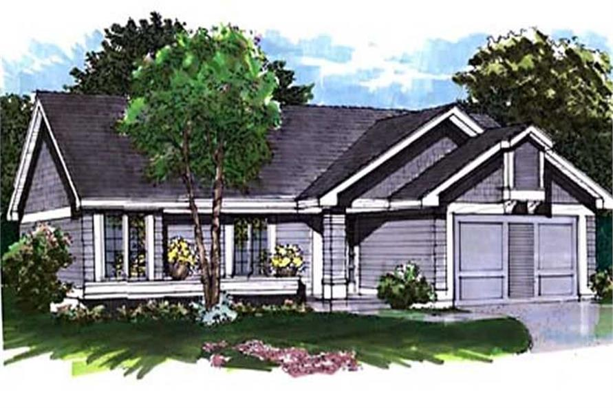 This image shows the Ranch Style of this set of house plans.