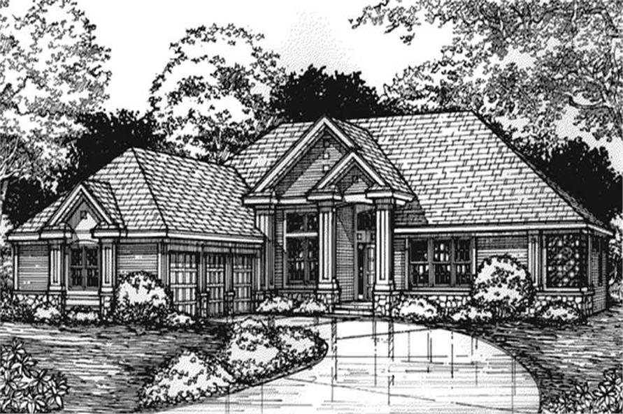 This image is the front elevation for European Houseplans LS-B-93028.