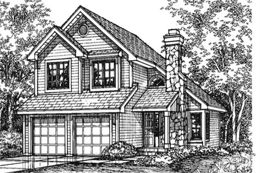 This shows the front elevation Country Home Plans LS-B-93004.