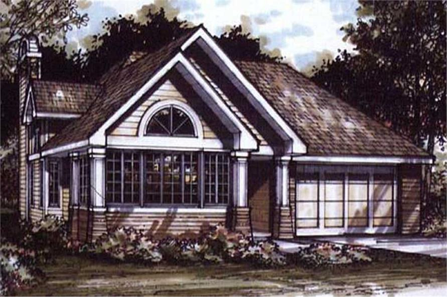 Country Homeplans LS-B-91012 colored rendering.