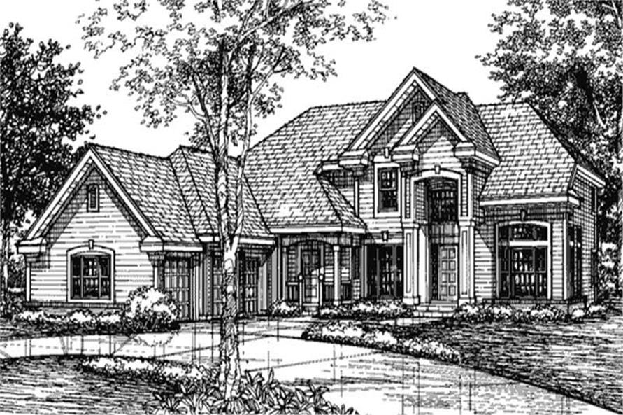 This shows the front elevation of European Homeplans LS-B-93001.