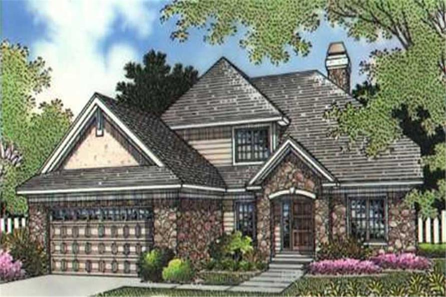 This is a colored rendering of French House Plans LS-B-95008.