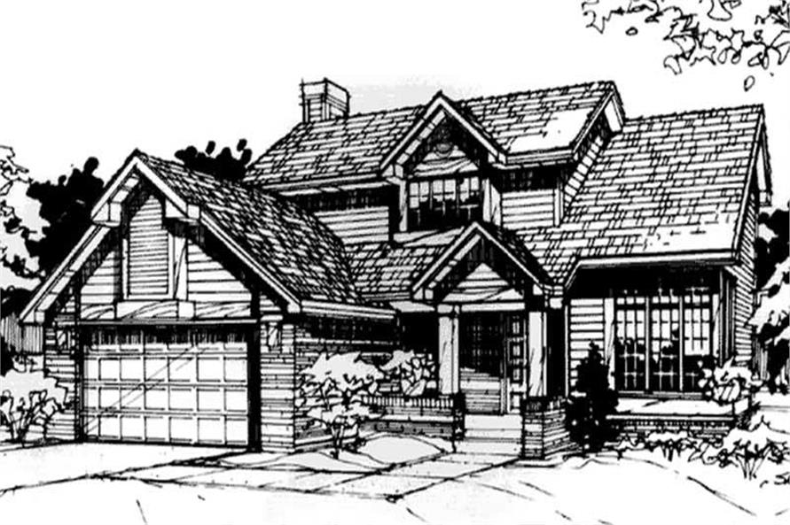 Country Home Plans Front Elevation.