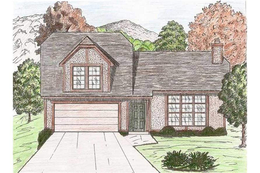 147-1003: Home Plan Rendering