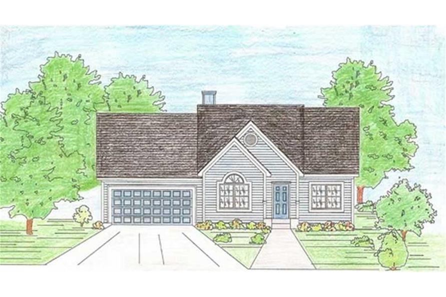 147-1004: Home Plan Rendering