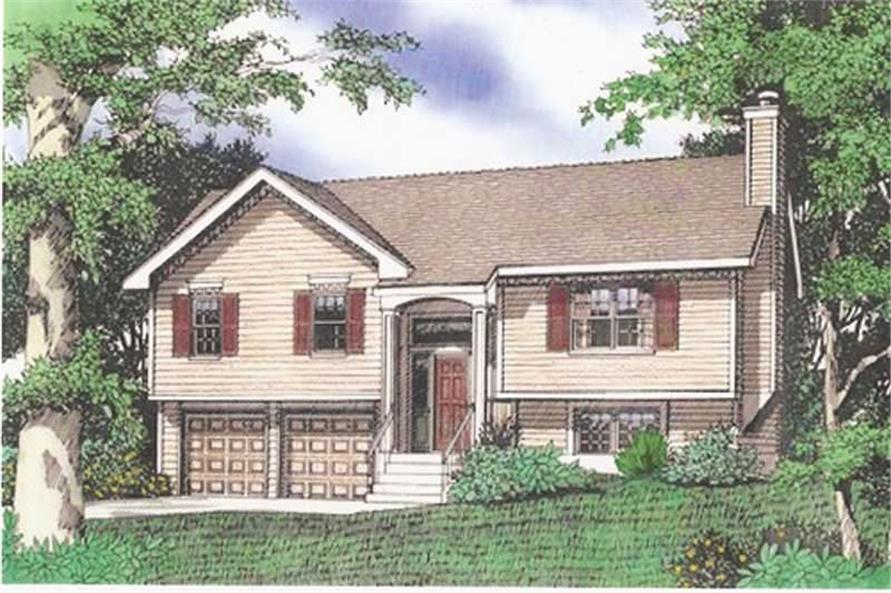 Color Rendering of House Plan #147-1023