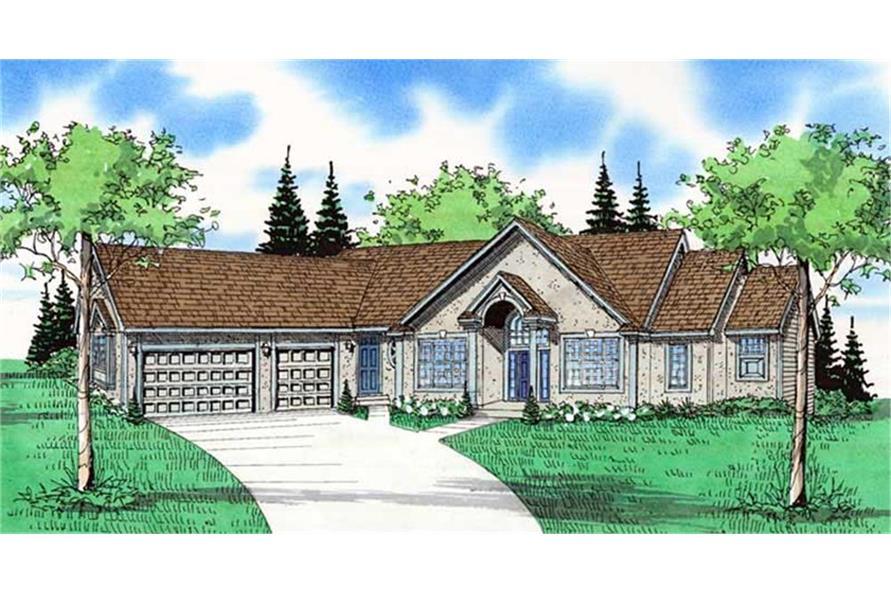 147-1040: Home Plan Rendering