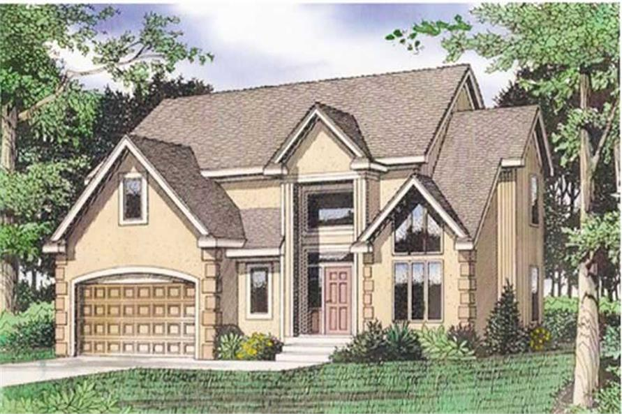 Front elevation of Mediterranean home (ThePlanCollection: House Plan #147-1109)