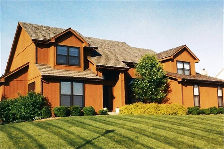 Color photograph of Contemporary home plan (ThePlanCollection: House Plan #147-1116)